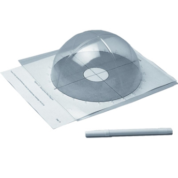 Sun Track Plastic Hemisphere 1. (Ps-03/Single) (1 Unit) Kit.