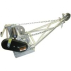 Combination Winch and Depth Meter, Aluminum, Metric (100mm)