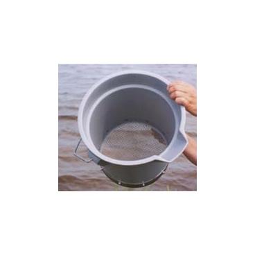 """Wash Bucket-US 10 Mesh 2000um. 12"""" Round 11.5"""" Tall."""