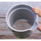 "Wash Bucket-US 10 Mesh 2000um. 12"" Round 11.5"" Tall."