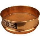 """Sieve, Brass, No.35 500um Mesh 200mm (8"""") Dia, 50mm(2"""") Tall."""
