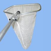 Basic Fish Dip Net - 4ft handle, Knotless nylon mesh, 16in x 18in D