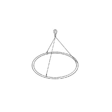 """Net SS Ring&Bridle 750Mm 30"""".  *Oversize* (NON RETURNABLE)"""