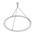 "Net SS Ring&Bridle 750Mm 30"".  *Oversize* (NON RETURNABLE)"