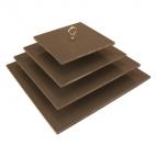 "Zebra Mussel Sampler, Masonite, 6, 8, 10, 12"" square"
