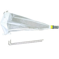 Drift Net with Adaptor and Dolphin Bucket, Stakes, Nitex/SS, 363micron