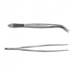 "Forceps, Insect SS 115mm Curved. Sharp Point 4 X .5 X .25""."