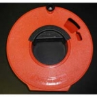 "Hand Reel, Orange Plastic 12""."