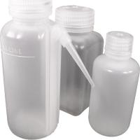 Square polypropylene sample bottle, Polypropylene, 250mL