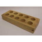 Wood Vial Rack for  5 Dram Vials, Wood, 10 Slots