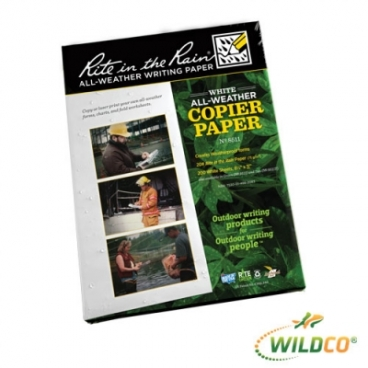 "Rite In The Rain Copy Paper Ream-500 sheets. 8.5 X 11 X 1""."