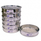 Sieves,  All 410 Stainless Steel, Includes Lid and Pan, 6/Stack, Fieldmaster®