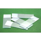 Economy Glass Slides W/frosted End, 25x75mm,72/pk