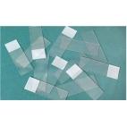 Slides, Beveled Glass, Frosted End,72/pk