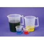 Beaker W/handle, Pp, Grad, Med Pour Spout, 1000ml**CL (NOT RETURNABLE)
