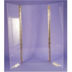 """Shield, Polycarbonate, 3.0mm Thick, Uv, 24""""hx12""""w**CL (NOT RETURNABLE)"""