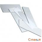 Slides, Beveled Glass, Plain End, 72/pk