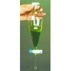 Separatory Funnel, PTFE Stopcock, PE Stopper, 500ml