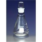 Flask, Erlenmeyer, Pyrex, Narrow, Grad, 125ml, Gls Stopper