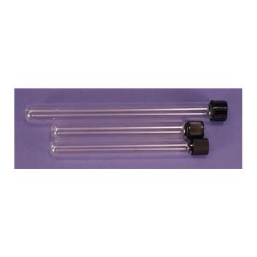 Glass Culture Tubes w/PTFE Lined Screw Cap, 16x125mm, 16ml, 10/pk
