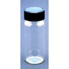 Sample Vials, 24ml, Clear Glass, with Cap, 12/pk