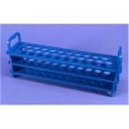 Test Tube Rack, Pc, Holds 31-16mm Tubes, Blue