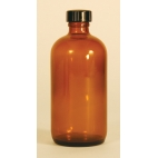 Amber Nrw Mouth Bottle, 240ml, Phenolic Cap