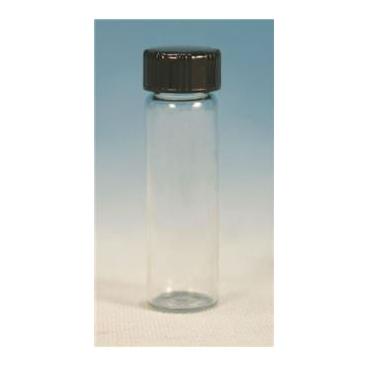 Glass Vial W/white Rubber Lined Cap, 22.5ml, 12pk