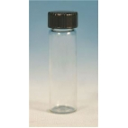 Glass Vial W/white Rubber Lined Cap, 22.5ml, 12pk
