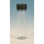 Glass Vial W/Black Rubber Lined Cap, 15ml, 12pk