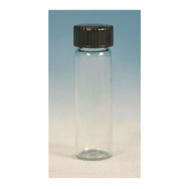 Glass Vial W/white Rubber Lined Cap, 7.5ml, 12pk