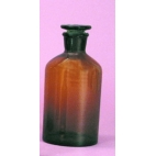 Amber Glass Reagent Bottle w/Stopper, 500ml/16oz