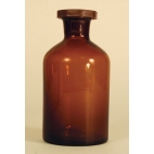 Amber Narrow Mth Reagent Bottle, 500ml/16oz, Plastic Stop