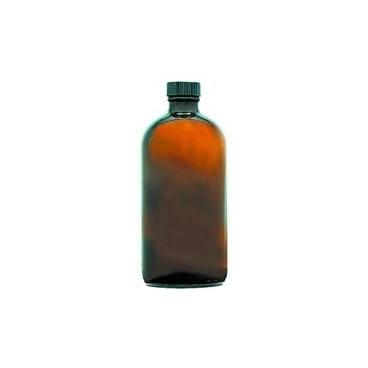 Bottle,  Glass, 16oz/480ml, Round, Amber W/cap