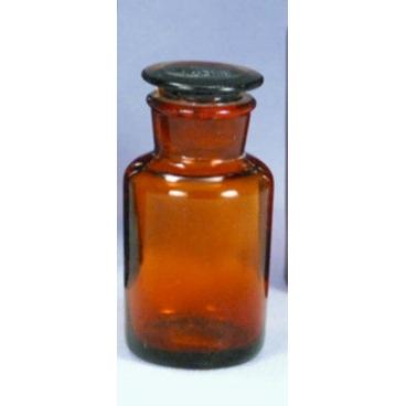 Amber Glass Bottle w/Stopper, 60ml, Wide Mouth