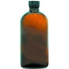 Bottle,  Glass, 2oz/60ml, Round, Amber W/cap**