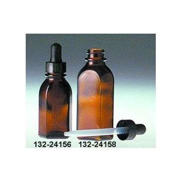 Semi-oval Amber Dropping Bottle, 1oz/30ml