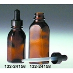 Semi-oval Amber Dropping Bottle, 2oz/60ml