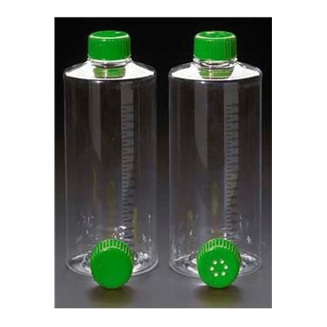 Roller Bottle, Vented, Sterile, Grad, Treated, 490cm^2