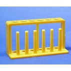Test Tube Rack, Yellow, 6 Holes, 6 Posts
