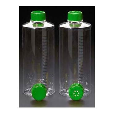 Roller Bottle, Nonvented, Sterile, Grad, Treated, 850cm^2