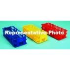 Polypropylene Wet/Dry Test Tube Rack, Blue, Holds 21 -30mm Tubes