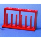 Test Tube Rack, Red, 6 Holes, 6 Posts