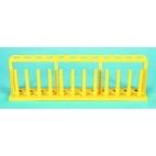In-line Test Tube Rack, Lg Yellow Polyethylene