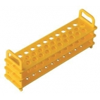 Test Tube Rack, Pc, Holds 31-16mm Tubes,yellow