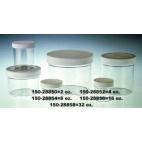 Straight Sided Polystyrene Jar W/lid, 8oz/240ml