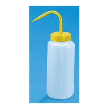Wash Bottle, 500ml, Yellow Cap, LDPE, PP Top