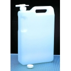 Carboy, 5L/1.32Gal, Rectangular, Space-Saver, No Spigot