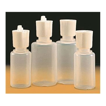 Dispensing Bottle, 60ml, Flip-Top Squeeze Jet, Dropper Cap, LDPE