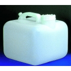 Carboy, 2.5Gal, Heavy-Duty, Square, No Spigot
